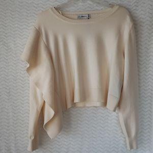 Cream colored cropped sweater